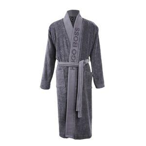 Hugo Boss Kimono Hugo Boss Plain en coton éponge gris anthracite - GRIS - S