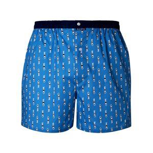 Arthur Caleçon Arthur Bain en coton stretch bleu indigo à motifs plongeurs - BLEU - L