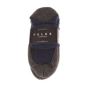 Falke Chaussons à semelle en feutre anti-dérapante Falke en laine vierge mélangée gris anthracite chiné et bleu marine chiné - BLEU - - Publicité