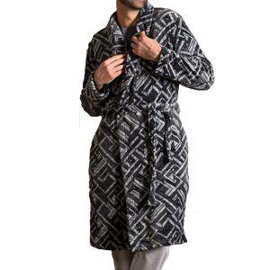 Dodo Robe de chambre Dodo Black Series en polaire anthracite à motifs géométriques gris - GRIS - XL