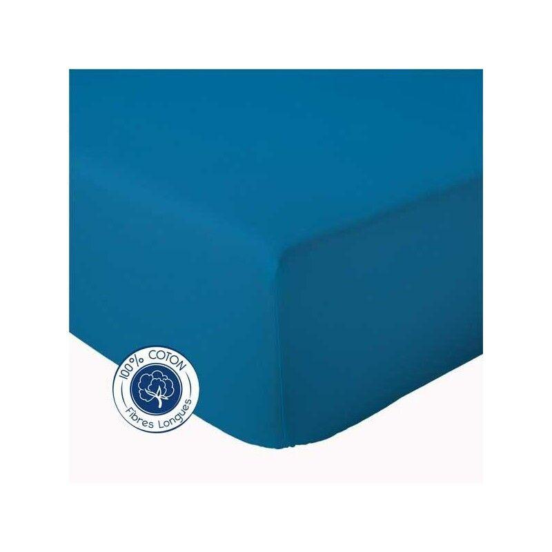 Drap Housse 100% coton Tradilinge  Nautique (Couleur : NAUTIQUE, Dimension : 120X190cm)