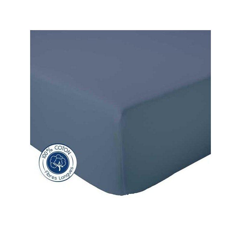Drap Housse 100% coton Tradilinge  Orage (Couleur : ORAGE, Dimension : 120X190cm)
