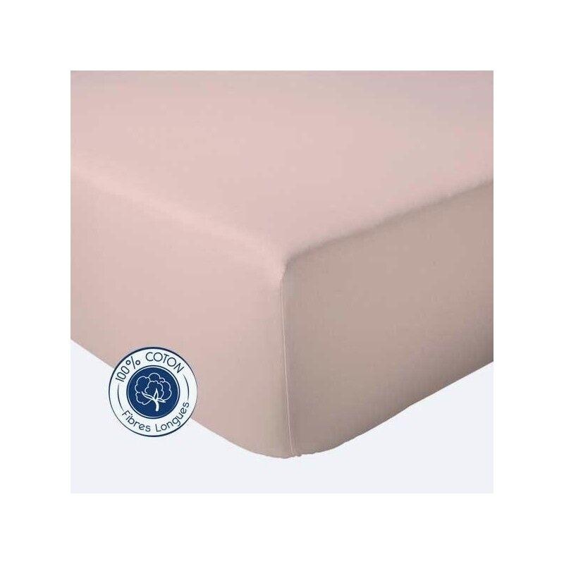 Drap Housse 100% coton Tradilinge  Ruban (Couleur : RUBAN, Dimension : 120X190cm)