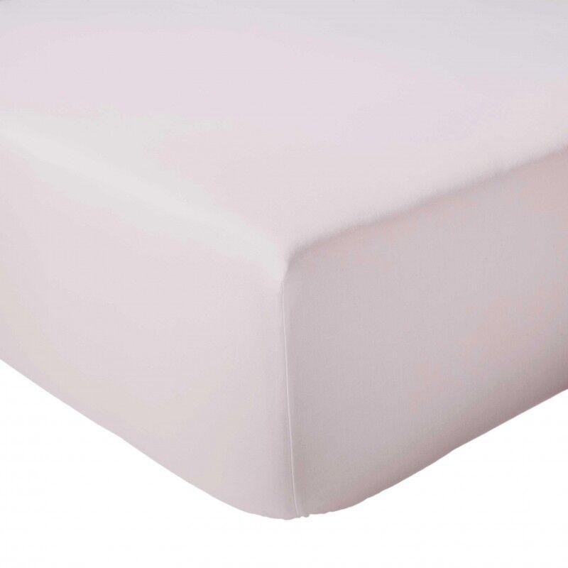Drap Housse 100% coton Tradilinge  Nude (Dimension : 120X190cm, Couleur : NUDE)