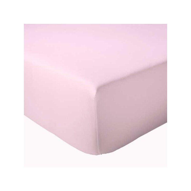 Drap Housse 100% coton Tradilinge Rose (Couleur : ROSE, Dimension : 120X190cm)
