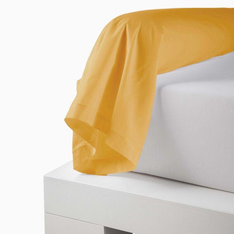 Traversin 100% coton Moutarde (Dimension : 86X240cm (2 personnes), Couleur : MOUTARDE)