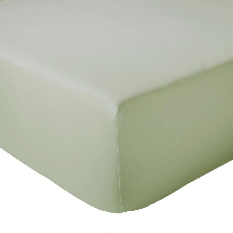 Drap Housse 100% coton Tradilinge Amande (Couleur : AMANDE, Dimension : 120X190cm)