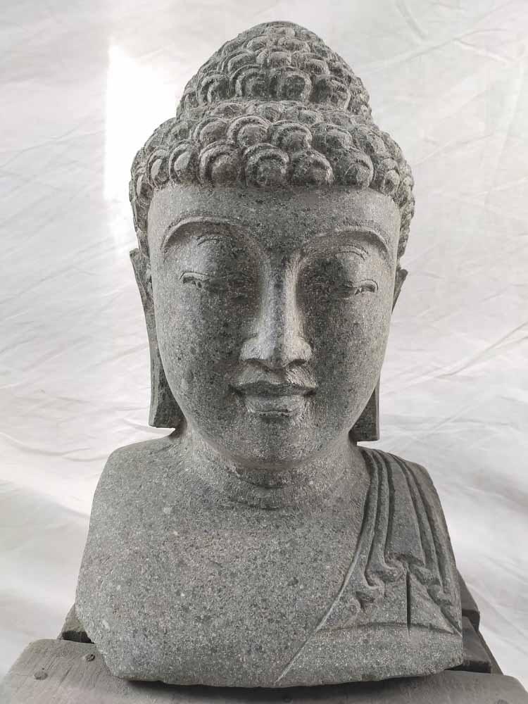 Wanda Collection Statue de jardin buste de bouddha exterieur zen 40 cm