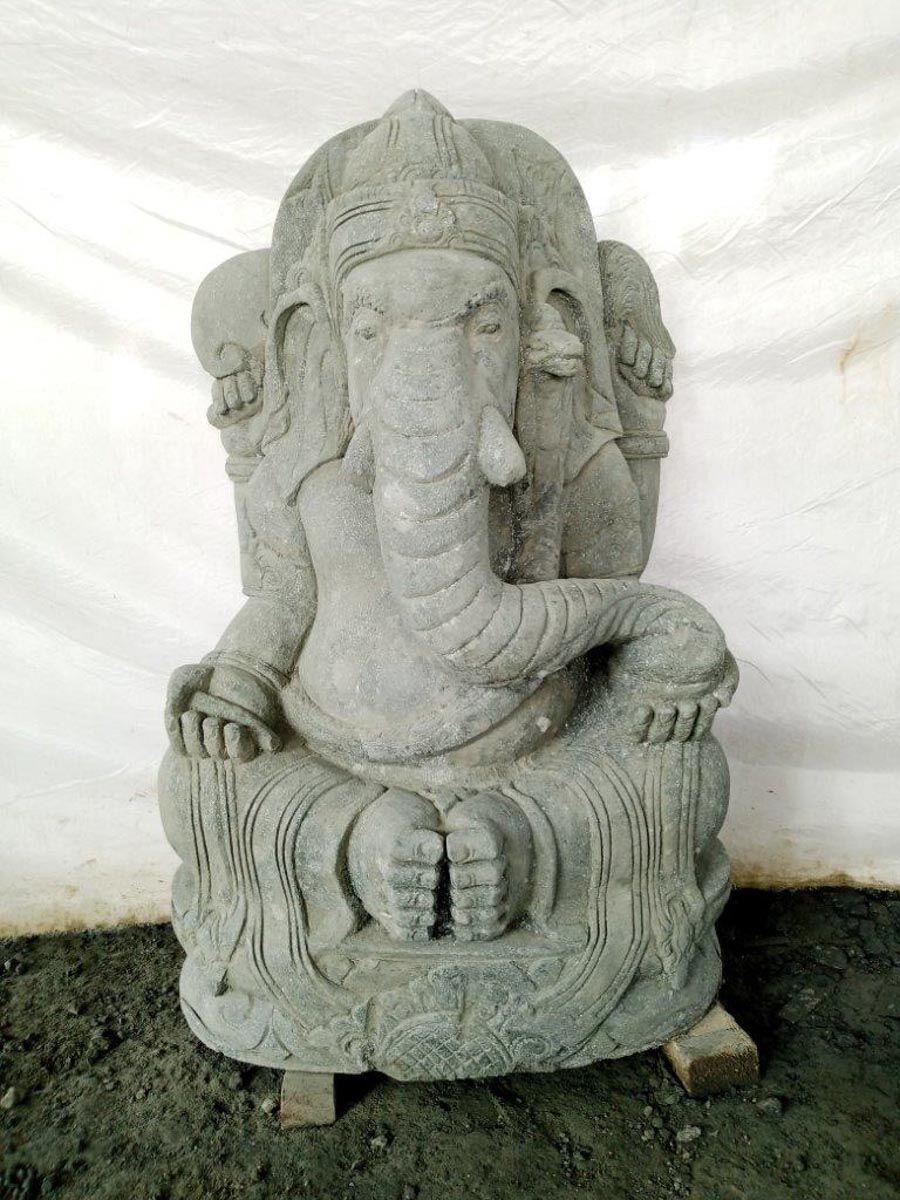 Wanda Collection Statue de jardin en pierre ganesh 100 cm