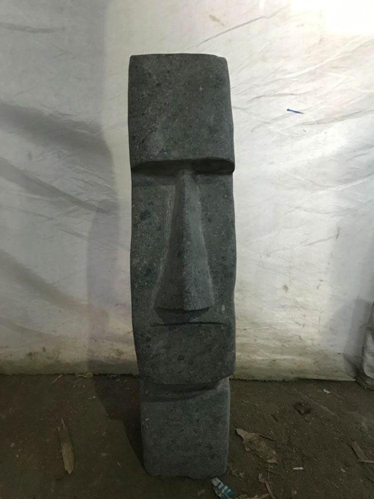 Wanda Collection Statue en pierre île de pâques moaï 60 cm