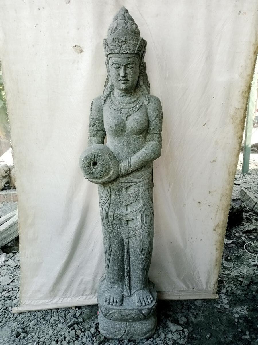 Wanda Collection Statue en pierre verseuse d'eau déesse dewi 2 m