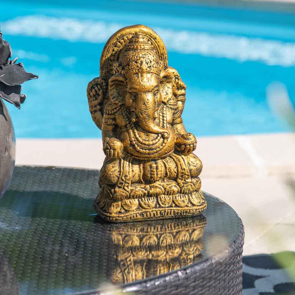 Wanda Collection Statue ganesh doré 40 cm