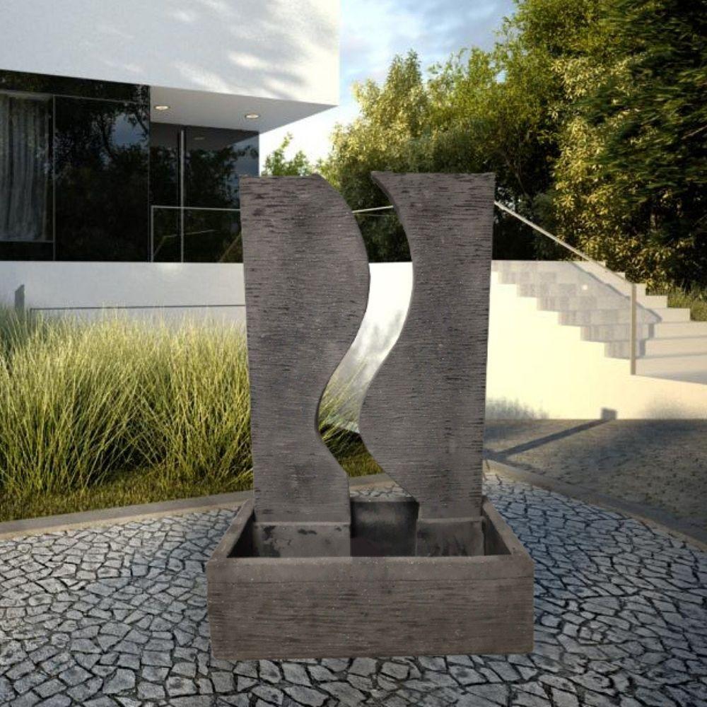 Wanda Collection Fontaine de jardin mur d'eau déco contemporain 125 cm