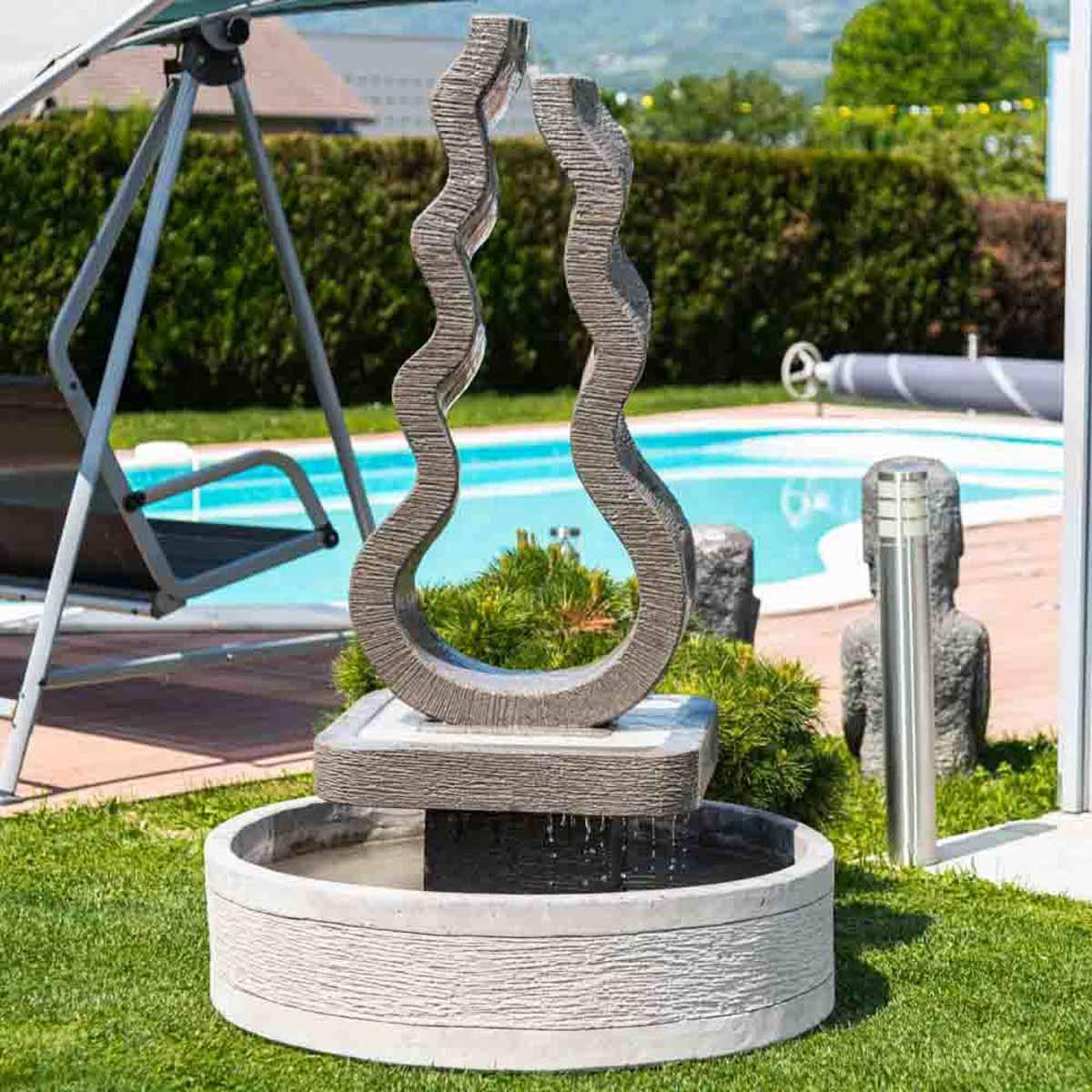 Wanda Collection Fontaine jardin flamme 160 cm