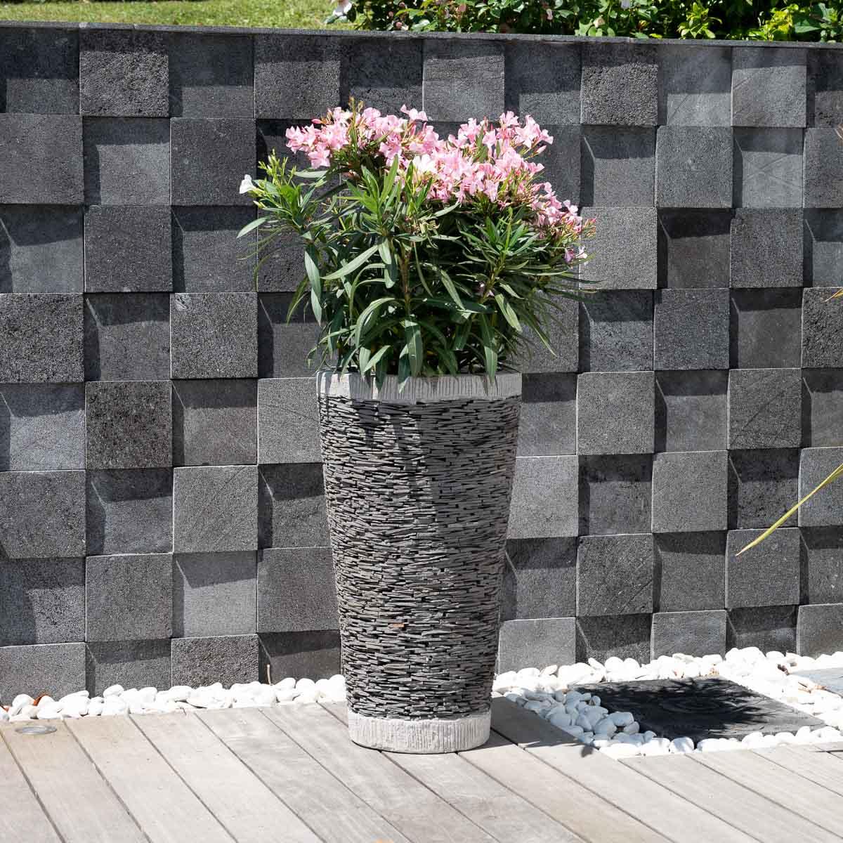 Wanda Collection Jardiniere en pierre - ardoise conique 80
