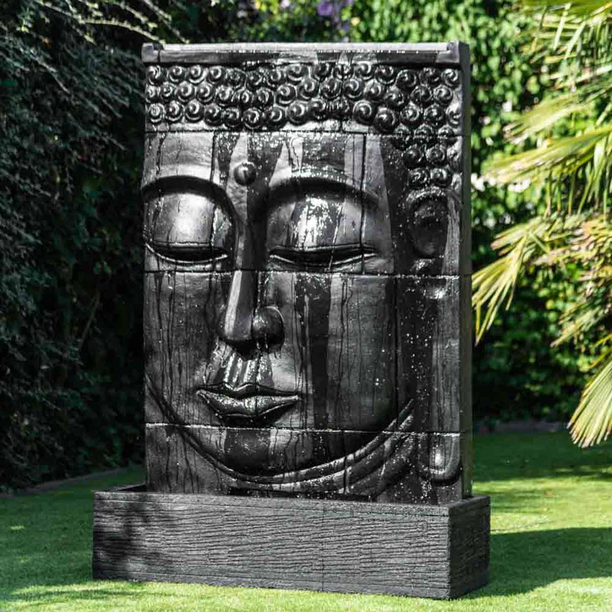 Wanda Collection Grande Fontaine extérieur mur d'eau visage de Bouddha 1 m 80