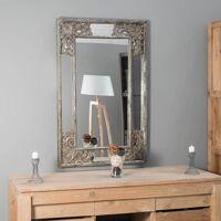 Wanda Collection Miroir déco en bois patiné Mathilde bronze 1m10 x 70cm <br /><b>139 EUR</b> Wanda collection