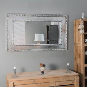 Wanda Collection Miroir Palerme en bois patiné argenté 140cm X 80cm - Publicité