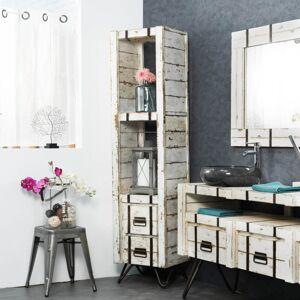 Wanda Collection Colonne en Mindi de salle de bain LOFT 190 blanc - Publicité