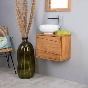 Wanda Collection Meuble de salle de bain suspendu en teck cosy 40cm - Publicité