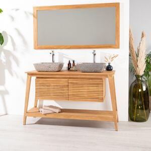 Wanda Collection Meuble en teck de salle de bain SCANDINAVE 140 - Publicité