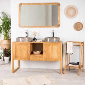 Wanda Collection Meuble en teck salle de bain THEA 130 CM - Publicité