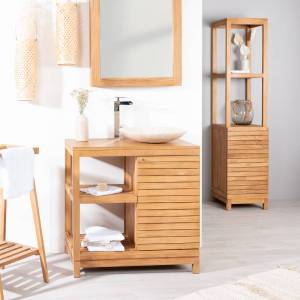 Wanda Collection Meuble salle de bain en teck COURCHEVEL 80 - Publicité