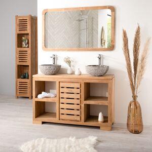 Wanda Collection Meuble salle de bain en teck massif 120 cm - Publicité