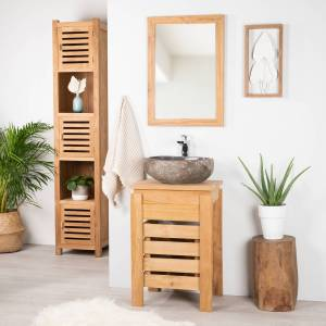 Wanda Collection Meuble ZEN salle de bain en teck 50 cm - Publicité