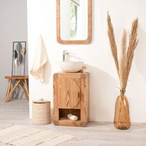 Wanda Collection Petit Meuble de salle de bain ou WC 44cm en teck massif - Publicité