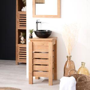 Wanda Collection Petit meuble salle de bain WC ZEN en teck 40cm - Publicité