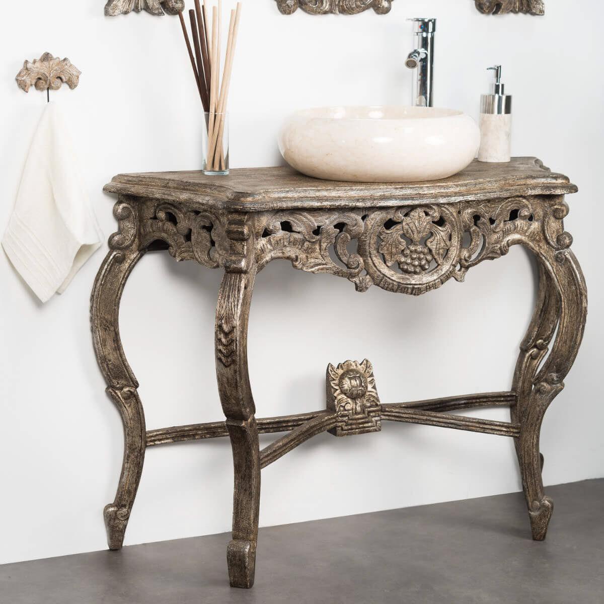 Wanda Collection Meuble salle de bain patiné bronze BAROQUE 100
