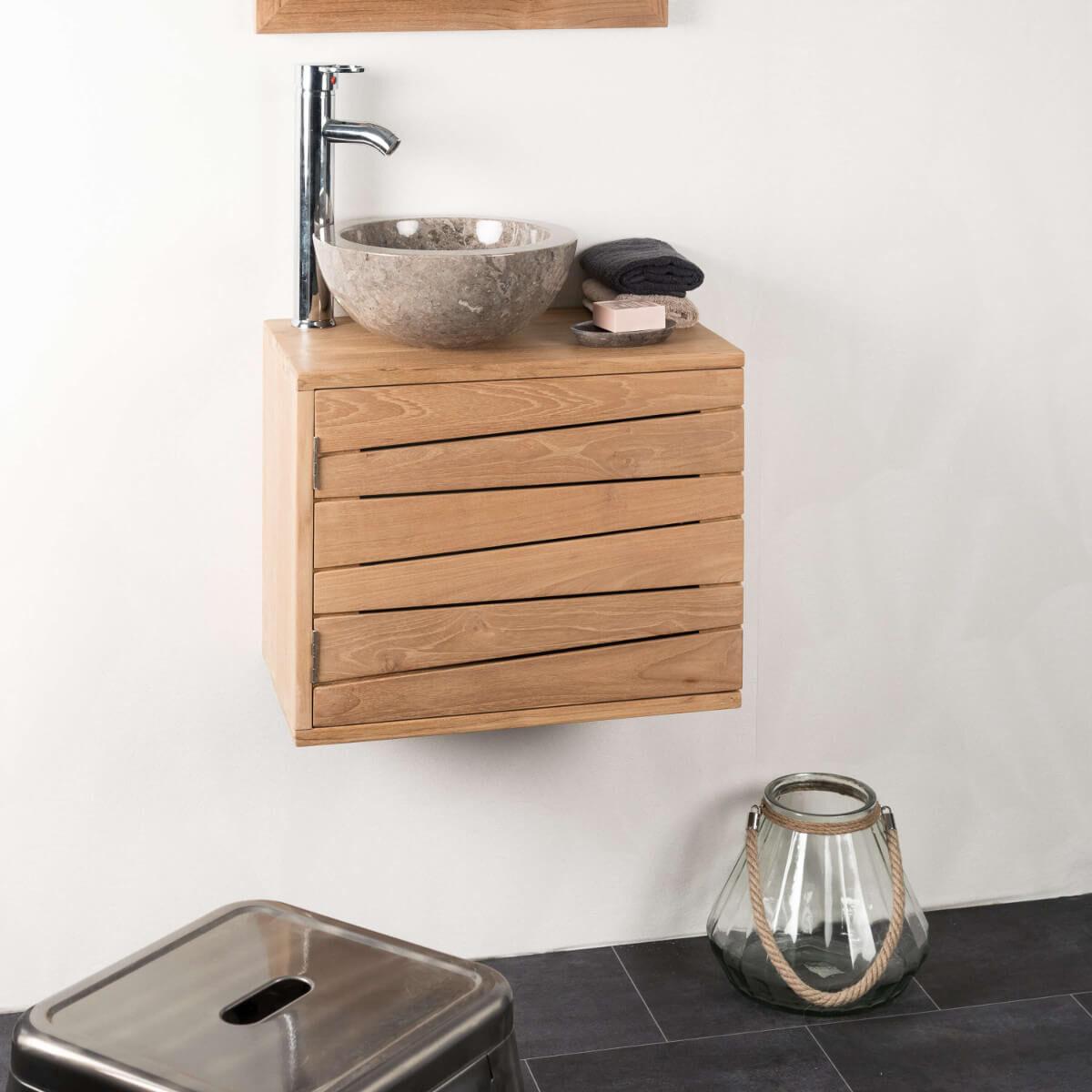 Wanda Collection Meuble salle de bain suspendu COSY 50X30 cm
