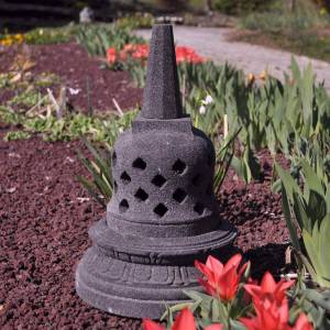 Wanda Collection Lampe stupa borobudur en pierre de lave 45 cm - Publicité