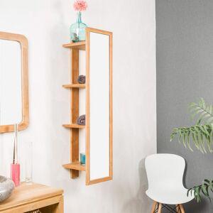 Wanda Collection Colonne à suspendre en teck avec miroir 120 Zoé - Publicité