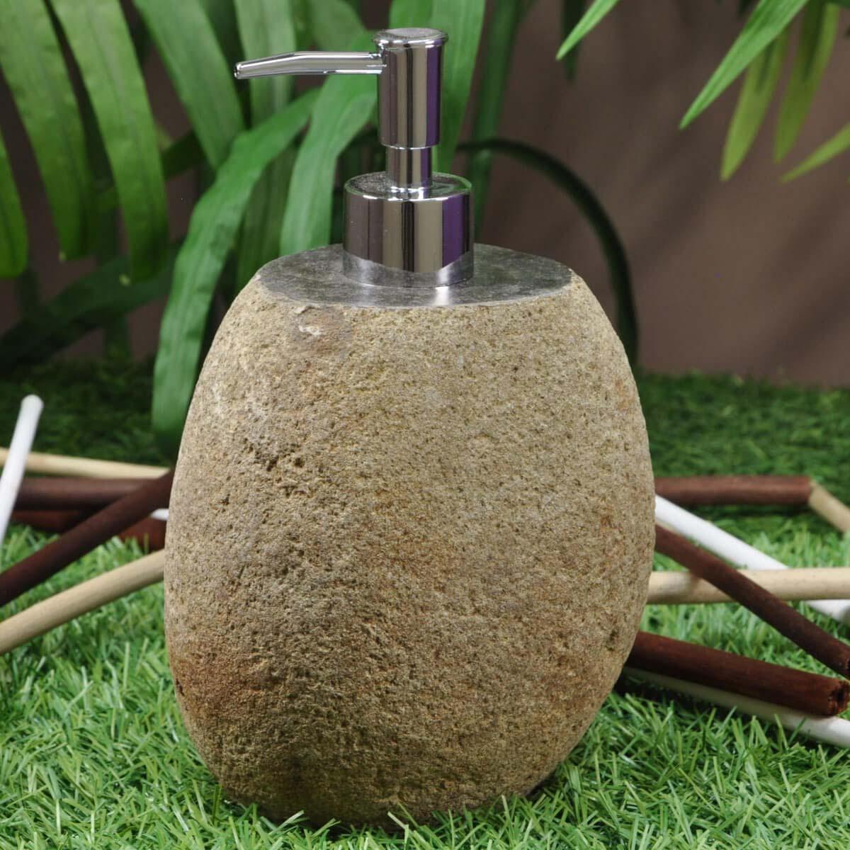 Wanda Collection Distributeur de savon en galet de rivière