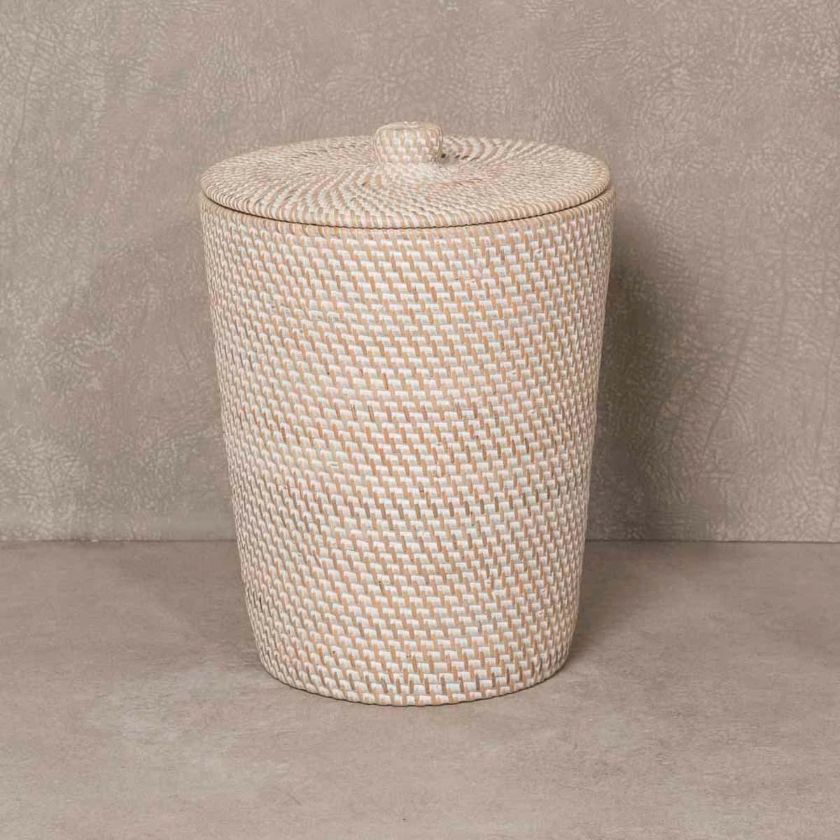 Wanda Collection Poubelle de salle de bain en fibre végétale