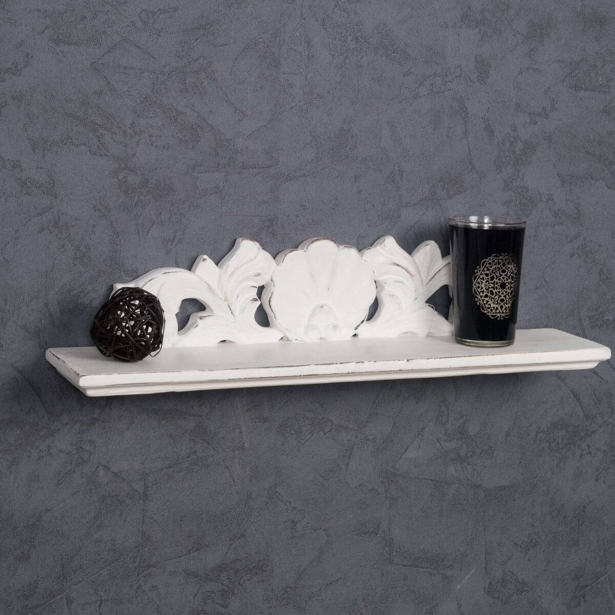 Wanda Collection Tablette Baroque blanc 50 cm