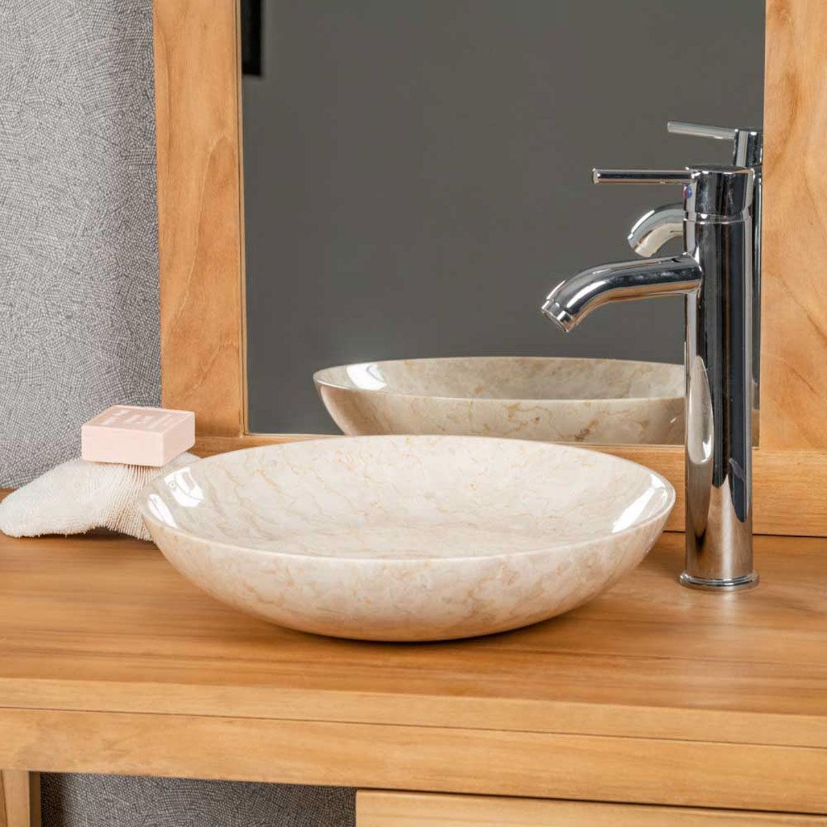 Wanda Collection Vasque à poser salle de bain LYSOM 35 CM CREME