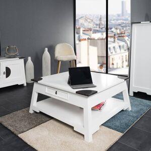 Wanda Collection Table basse de salon en acajou Thao blanc 85 - Publicité