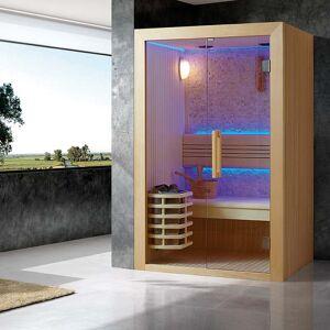"""""""Bain et Confort"""" """"Sauna de Luxe traditionnel 2 à 3 Places Kansas"""" - Publicité"""