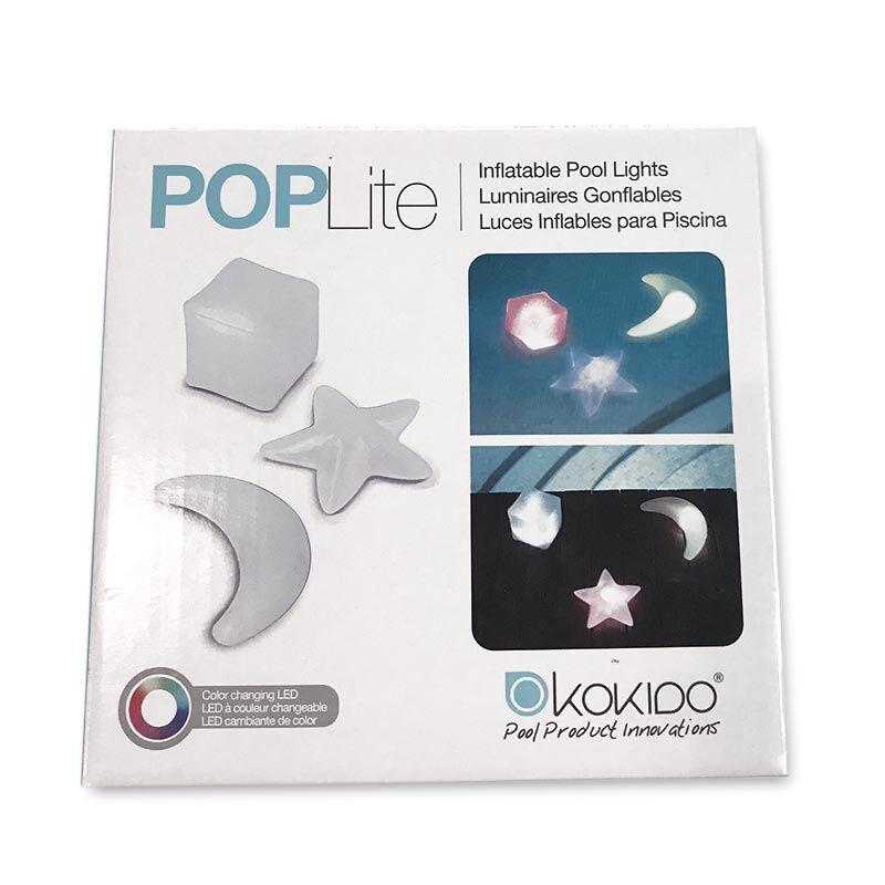 """Kokido """"Lampes gonflables à piles LUMI POPLITE (set de 3 modèles assortis)"""""""