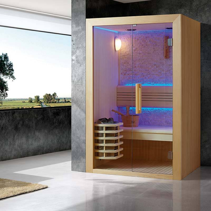 """Bain et Confort"" ""Sauna de Luxe traditionnel 2 à 3 Places Kansas"""