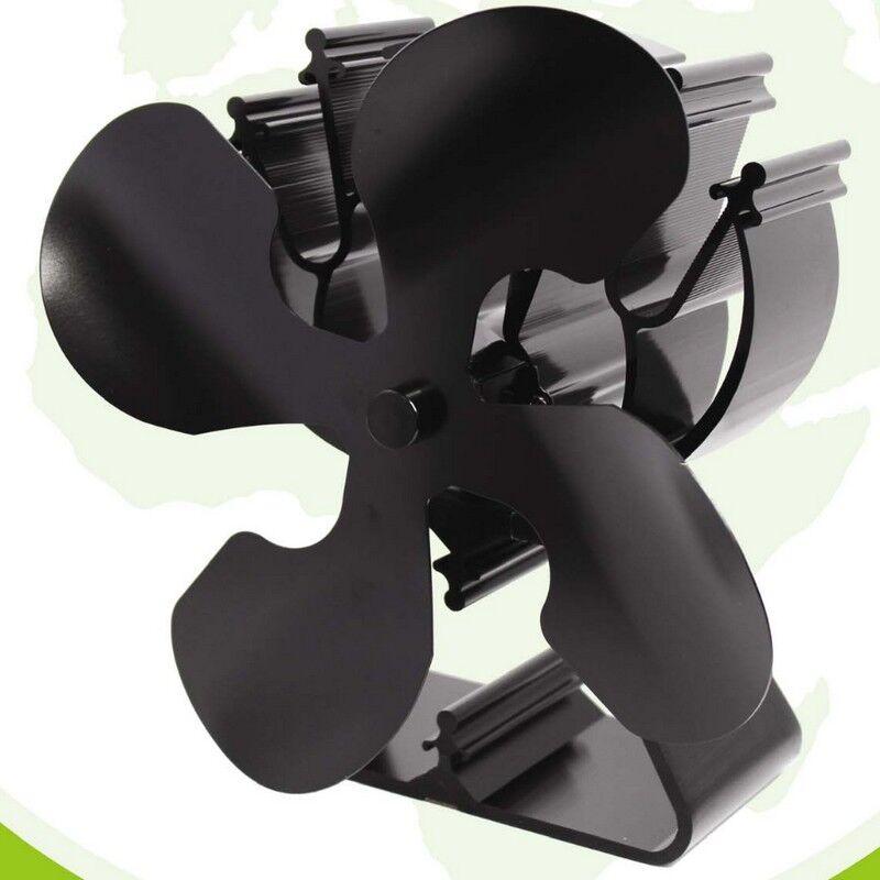 Ecosavers Ventilateur autoalimenté diffuseur de chaleur pour poêle à bois