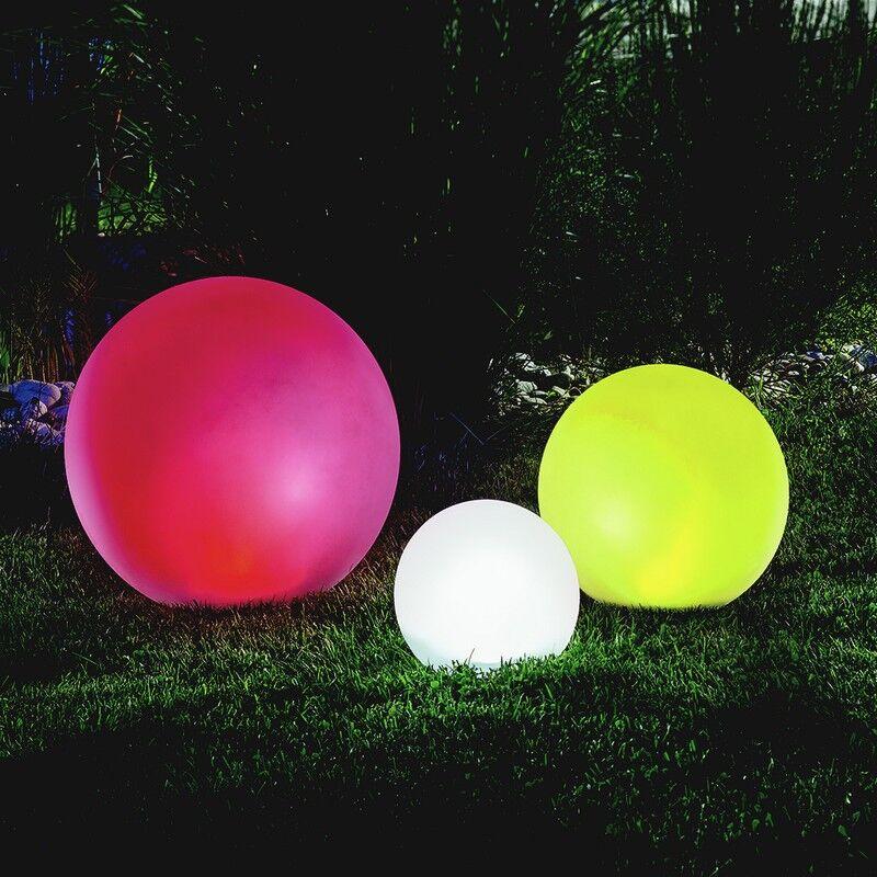 Esotec Lot de 3 x boule solaire multicolore 20,30, 40 cm