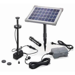 Esotec Kit pompe solaire bassin avec batterie et led 160L-5W - Publicité