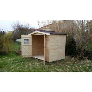 HABRITA Abri de jardin EDEN 2.4x1.6m 16mm - Publicité