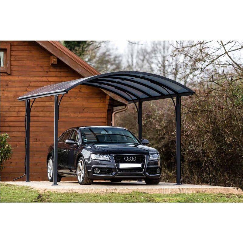 HABRITA Auvent voiture aluminium 3x4,8M