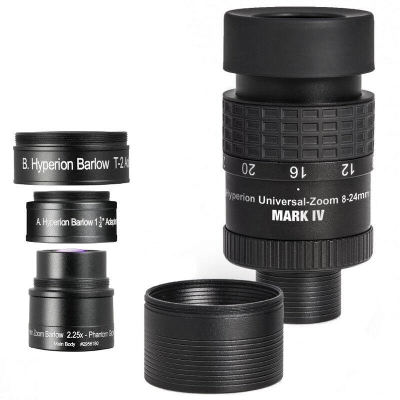 Baader Ensemble oculaire zoom Hyperion Universal Mark IV + lentille de Barlow zoom