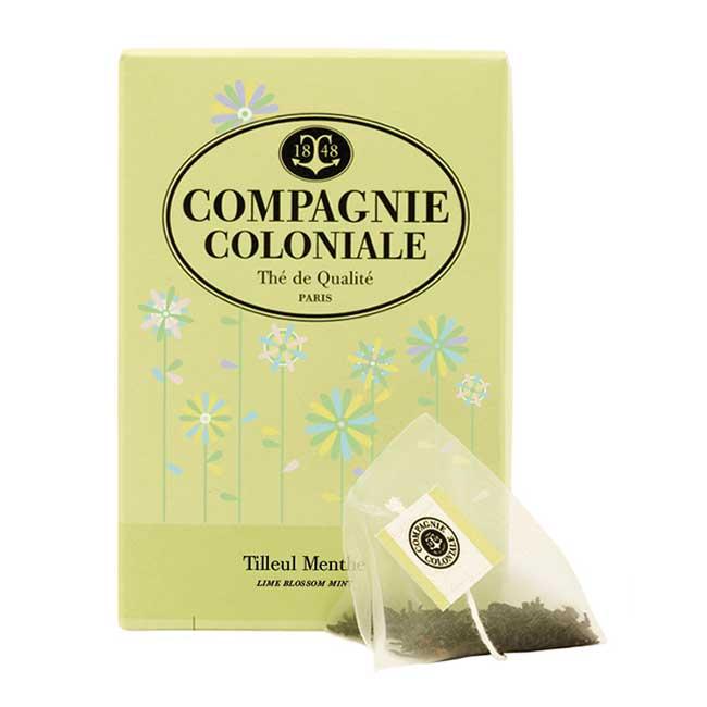Compagnie Coloniale Infusion Tilleul Menthe en boîte de 25 sachets Berlingo